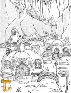 Dyniowe chatki krasnoludków z gry RPG dla dzieci Jagodowy Las