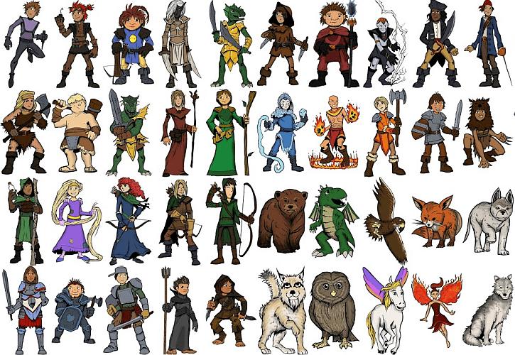 Bohaterowie w grze RPG dla dzieci Hero Kids