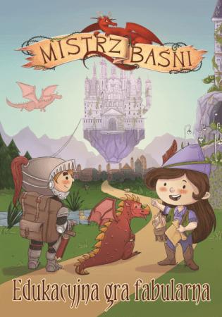 Okładka podręcznika do narracyjnej gry fabularnej dla dzieci Mistrz Baśni
